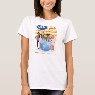 Girls and STEM: A World of Difference adult tshirt