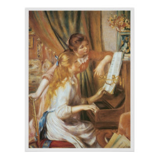 Girls at the Piano, 1892 Pierre-Auguste Renoir Poster