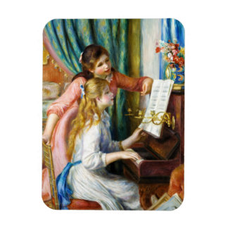 Girls at the Piano Pierre Auguste Renoir painting Magnet