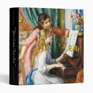 Girls at the Piano Pierre Auguste Renoir painting Vinyl Binder