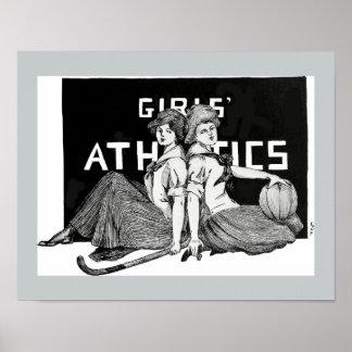 Girls' Athletics - 1913 Poster