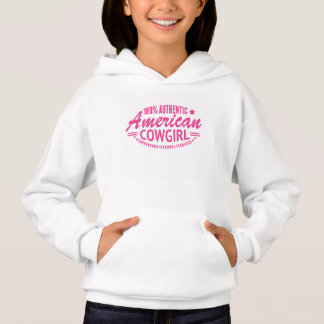 Girls Authentic American Cowgirl Sweatshirt Pink