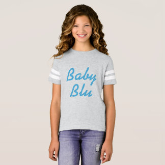 "Girls' ""Baby Blu"" Grey T-Shirt"