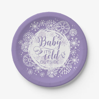 "Girls Baby It's Cold Outside 7"" Paper Plate"