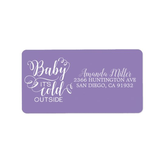 Girls Baby It's Cold Outside Address Label