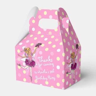 Girls Ballerina 9th birthday party thanks gift box