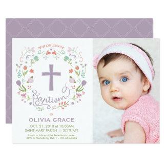 Girl's Baptism Invitation - Photo, Custom, Pretty