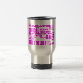 Girls Baseball : Pink Greatest Right Fielder Coffee Mugs