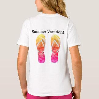 Girls Basic T-Shirt, Summer Vacation T-Shirt