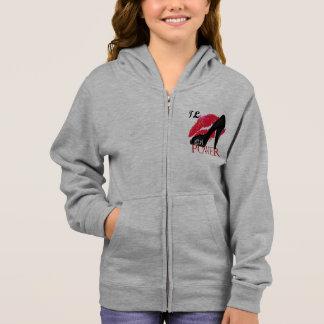 Girl's Basic Zip Hoodie by TLfashion