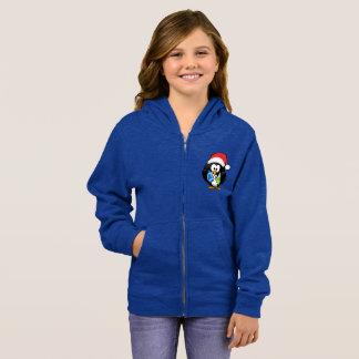 Girl's Basic Zip Hoodie Penguin