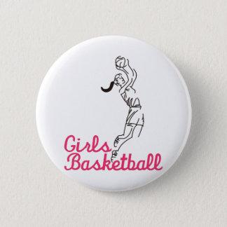Girls Basketball 2 Inch Round Button