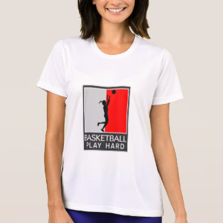 "GIRL'S BASKETBALL ""PLAY HARD"" PERFORMANCE SHIRT"
