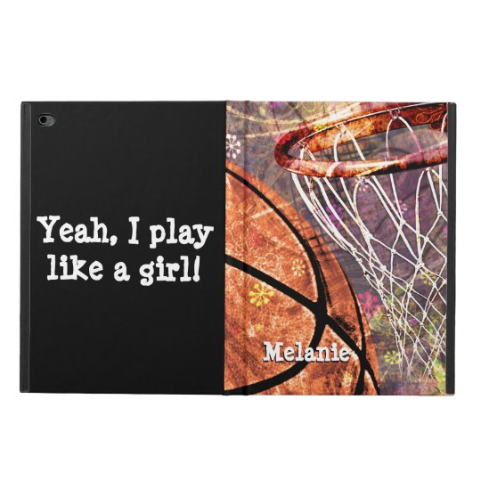 Girls Basketball Sporty Grunge Girly Purple Pink Powis iPad Air 2 Case
