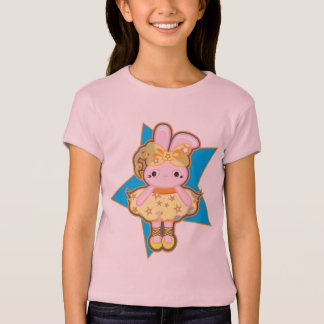 Girls' Bella+Canvas Fitted Babydoll T-Shirt, Pink T-Shirt