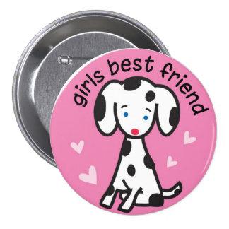 girls best friend 3 inch round button