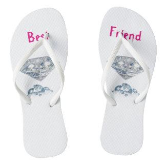 Girls Best Friend Adult, Slim Straps Flip Flops