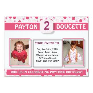 Girl's Birthday Invitation-2 Card