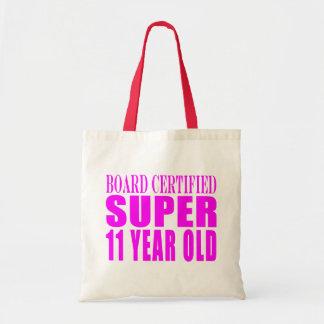 Girls Birthdays B Certified Super Eleven Year Old Canvas Bag
