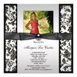 Girls Black and White Photo Graduation Custom Invites