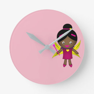 Girl's Black Fairy Clock