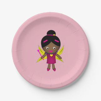 Girl's Black Fairy Paper Plates
