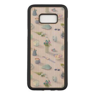 Girl's Blue Dream Carved Samsung Galaxy S8+ Case