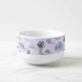 Girl's Blue Dream Soup Bowl With Handle