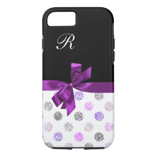 Girls Bow Girly Monogram iPhone 7 Case