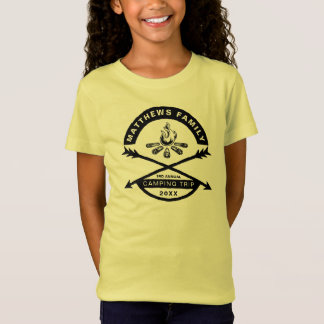 Girls' Camping Trip Reunion Shirt | Black Design