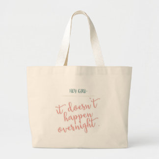girls can achieve too large tote bag