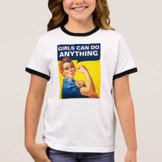 Girls Can Do Anything Ringer T-Shirt