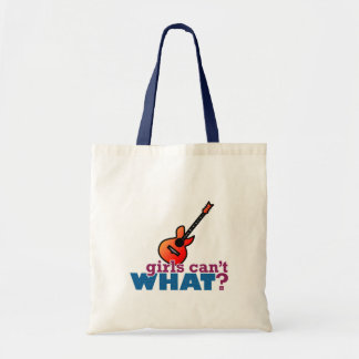 Girls Can't WHAT? Guitar Tote Bag