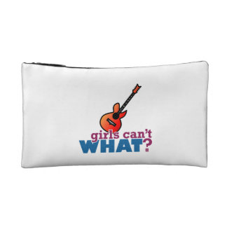 Girls Can't WHAT? Guitar Makeup Bags
