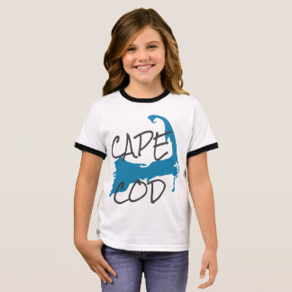 Girl's Cape Cod Massachusetts Shirt in White