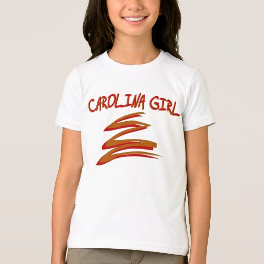 GIRLS CAROLINA GIRL RINGER T-SHIRT