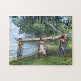 'Girls Carrying a Canoe' - John LaFarge Jigsaw Puzzle