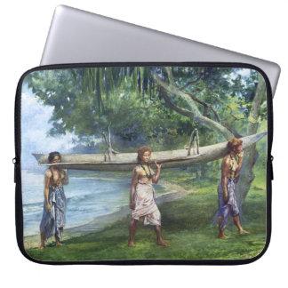'Girls Carrying a Canoe' - John LaFarge Laptop Sleeve