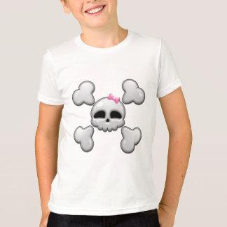 Girls Cartoon Skull T-Shirt