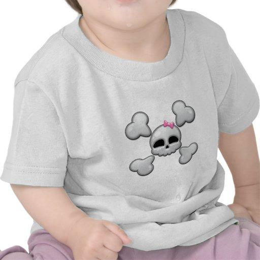 Girls Cartoon Skull Tee Shirts