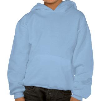 Girl's Cat Lover Hoodie Fat Cat Kid's Sweatshirt