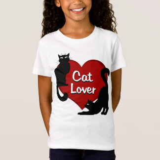 Girl's Cat Lover T-shirt Cat Lover Kid's Shirts