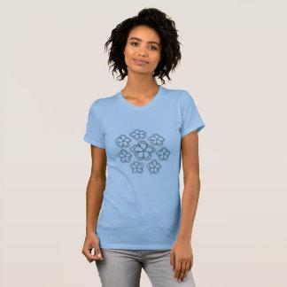 Girls cotton blue tee shirt custom