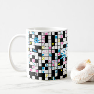 Girl's crossword puzzle coffee mug