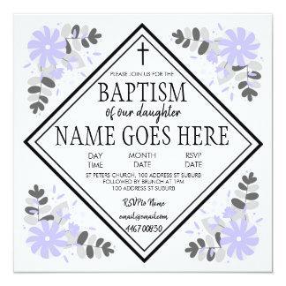 Girl's CustomisablBaptism / Christening Invitation