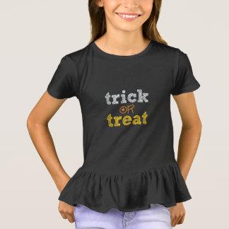 Girls Cute Halloween Tee Shirt Top Trick Or Treat