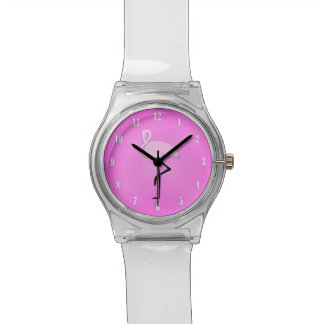 Girls Cute Pink Flamingo Watch with White Numbers