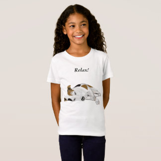 Girls Cute Sleeping Jack Russell T-Shirt