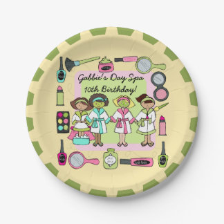 Girls Day Spa Birthday Paper Plate