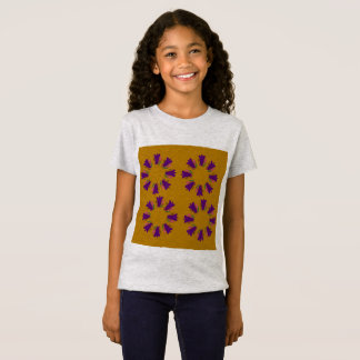 Girls designers t-shirt with Mandalas floral